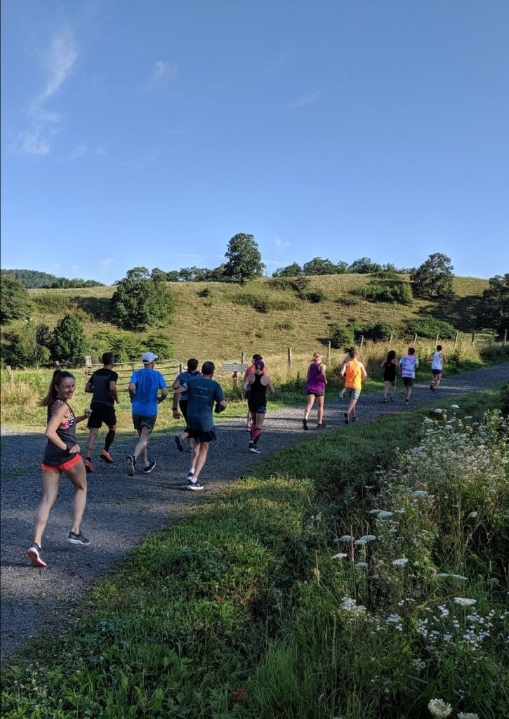 Group running at our ZAP running vacations.
