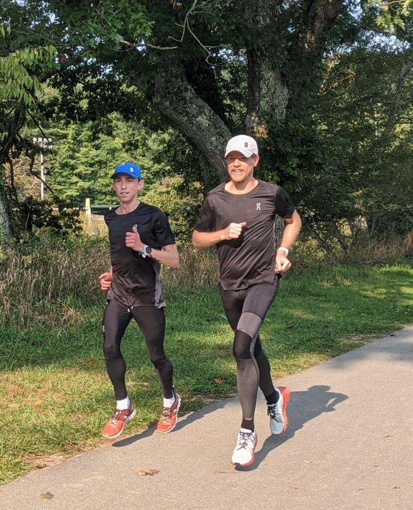 Josh and Tyler training for the Philadelphia Distance Run.